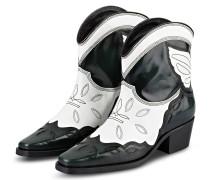 Cowboy Boots TEXAS LOW - SCHWARZ/ WEISS