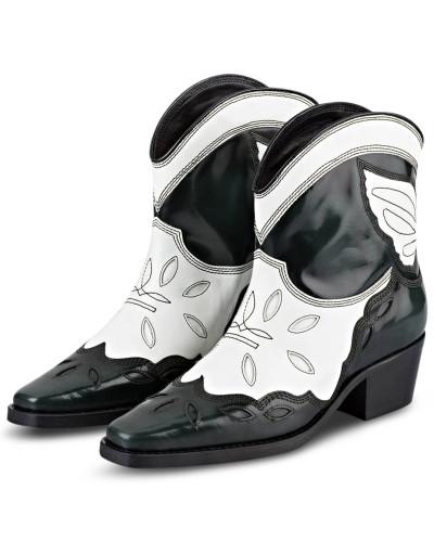 Cowboy Boots TEXAS LOW - GRÜN/ WEISS
