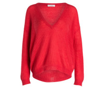 Oversized-Pullover - rot
