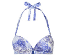 Neckholder-Bikini-Top - hellblau/ marine