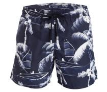 Badeshorts MOOREA PALM - navy/ weiss