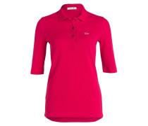Piqué-Poloshirt mit 3/4-Arm - pink
