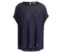 Shirt mit Leinen/Seide-Anteil - marine