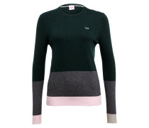 Pullover - grün/ grau/ rosa