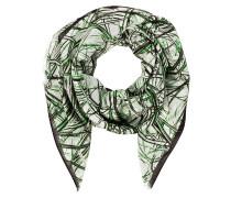 Schal mit Seidenanteil - grün