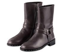 Boots mit Nietenbesatz - graphit
