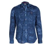 Hemd GOVELLY Slim-Fit - blau