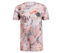 T-Shirt - rosé/ hellgrau/ rot