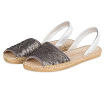 Sandalen mit Pailetten