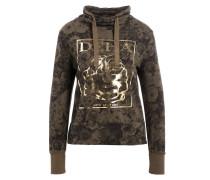 Sweatshirt - oliv/ gold