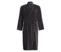 Unisex-Bademantel VELOUR STRIPE - grau
