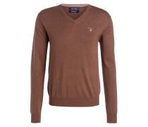 Pullover - haselnussbraun meliert