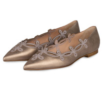 Ballerinas - gold metallic