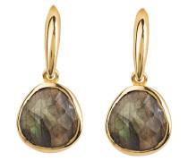 Ohrringe - gold/ oliv