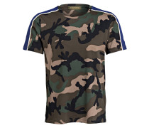 T-Shirt - oliv/ schwarz/ blau