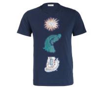 T-Shirt - dunkelblau/ weiss/ grün
