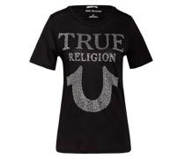T-Shirt TRUE mit Schmucksteinbesatz
