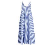 Midi-Kleid AIKA - weiss/ blau gestreift