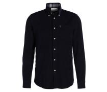 Feincord-Hemd Tailored-Fit - navy