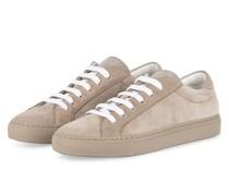 Sneaker mit Perlenbesatz - TAUPE