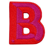 Patch SINGLE LETTER - pink/ rot