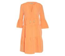 Kleid mit Leinen und 3/4-Arm