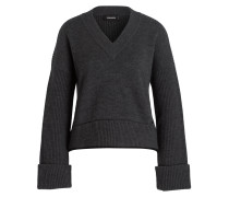Cropped-Pullover - grau