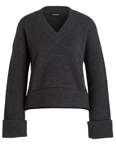 Cropped-Pullover - grau