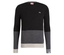 Feinstrickpullover - schwarz/ grau