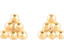 Ohrstecker TRIANGLE DOT STUD - gold