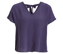 Seidenshirt - violett