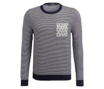 Pullover - dunkelblau/ grau meliert