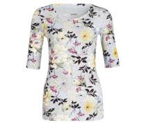 Shirt mit 3/4-Arm - grau/ schwarz/ gelb