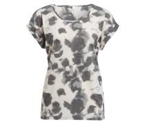 T-Shirt - dunkelgrau/ ecru