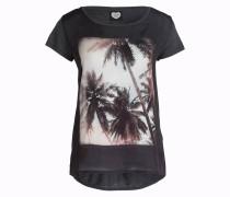 T-Shirt - dunkelgrau meliert/ ecru