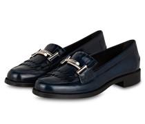 Loafer - blau/ silber
