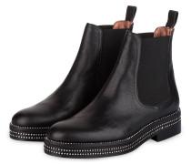 Chelsea-Boots mit Strasssteinbesatz