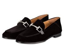 College-Loafer aus Samt - schwarz