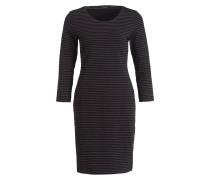 Kleid WEDA - schwarz/ dunkelgrau gestreift