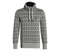 Pullover - marine/ grau meliert