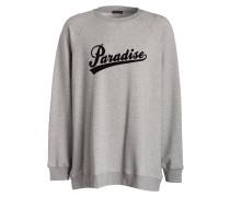 Sweatshirt OVERSIZED - grau meliert