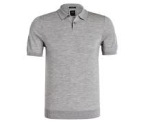 Strick-Poloshirt T-OLEN Regular-Fit - grau