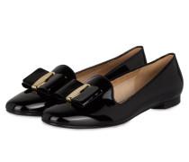 Loafer aus Lackleder - schwarz
