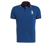 Piqué-Poloshirt Classic-Fit in Bicolor-Optik
