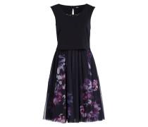 Kleid - navy/ violett
