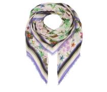 Tuch - grün/ violett/ beige
