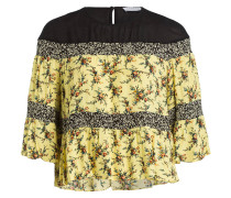 Blusenshirt - schwarz/ gelb