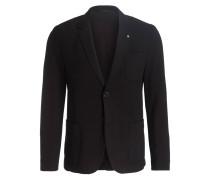 Jersey-Sakko AGALTON Slim-Fit - schwarz