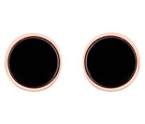 Ohrstecker ALBA DISC - roségold/ schwarz