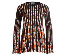 Pullover - schwarz/ orange/ weiss